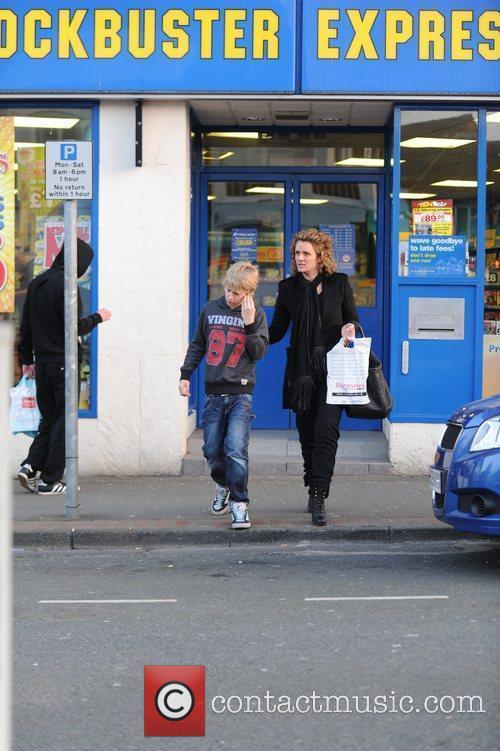 Anne Marie Van de Sar and son...
