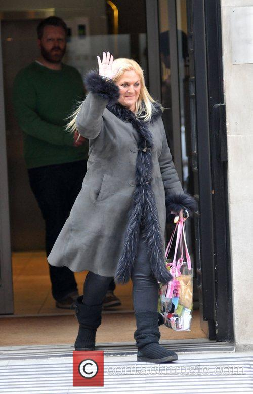Vanessa Feltz  is seen outside BBC's Radio...