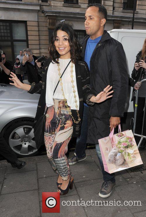 Vanessa Hudgens leaving the Radio 1 studios London,...