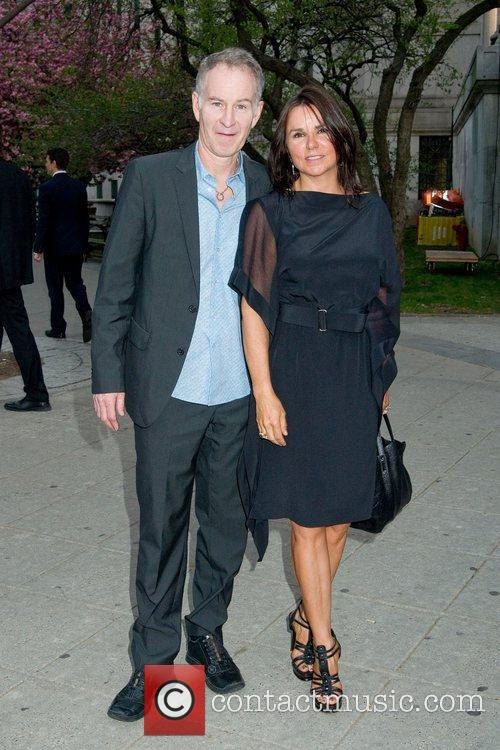 John McEnroe and Patty Smith 2011 Tribeca Film...