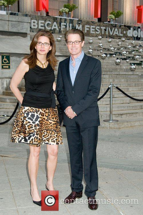 Desiree Gruber and Kyle MacLachlan 2011 Tribeca Film...