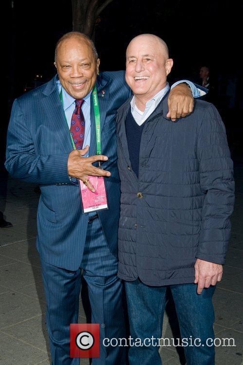 Quincy Jones and Ron Perelman 2011 Tribeca Film...