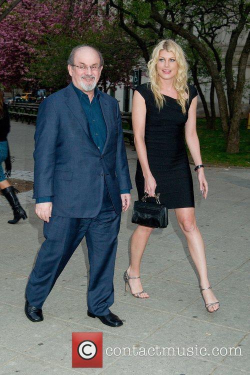 Salman Rushdie and Meredith Ostrom 2011 Tribeca Film...