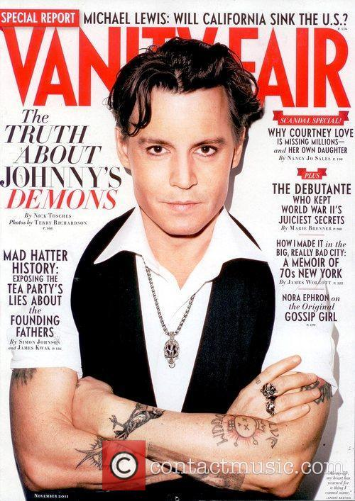 Johnny Depp appears on the November 2011 cover...