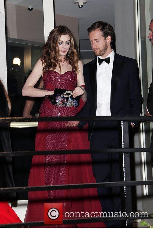 Anne Hathaway and Adam Schulman 2011 Vanity Fair...