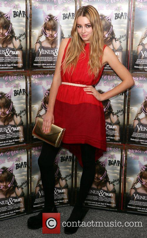 Keeley Hazell at the UK film premiere of...