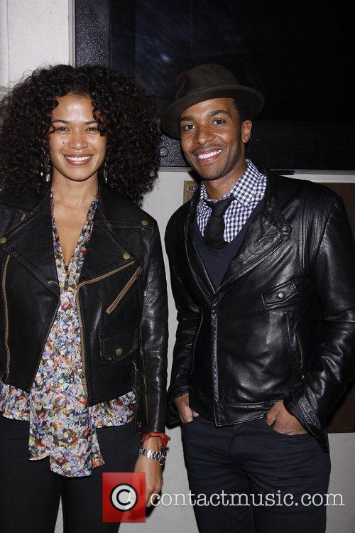 Andre Holland and his girlfriend Monica  Opening...