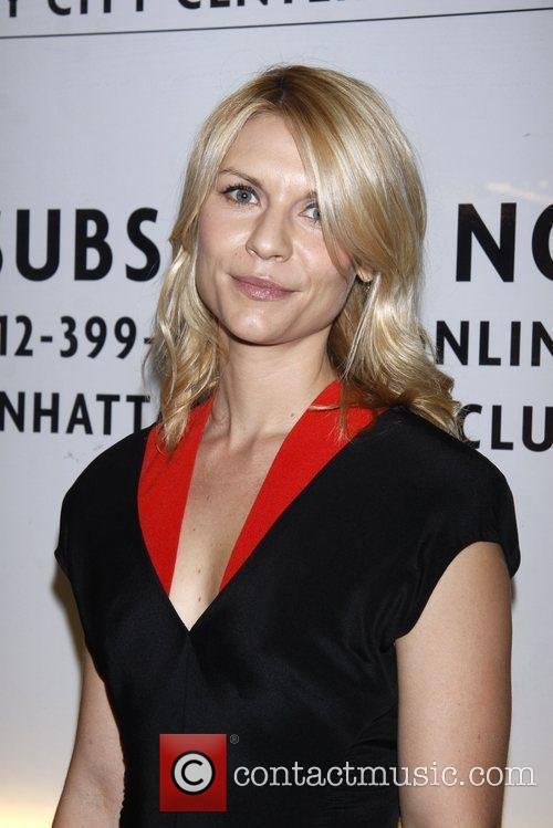 Claire Danes wearing Narciso Rodriguez  Opening night...