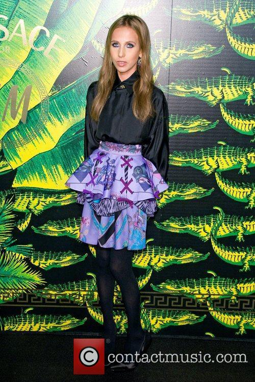 Allegra Versace Versace for H&M Fashion Show and...
