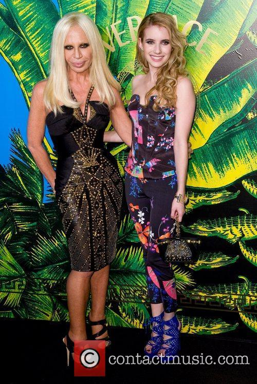 Donatella Versace and Emma Roberts 9