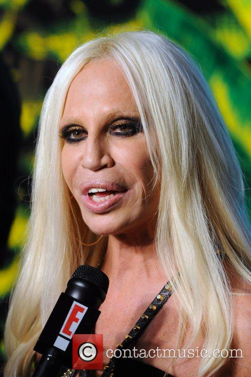 Donatella Versace Versace for H&M Fashion Show and...