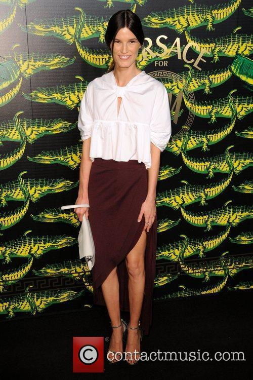 Hanneli Mustaparta Versace for H&M Fashion Show and...