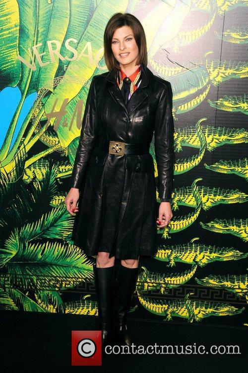 Linda Evangelista Versace for H&M Fashion Show and...
