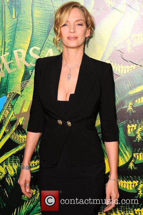 Uma Thurman  Versace for H&M Fashion Show...