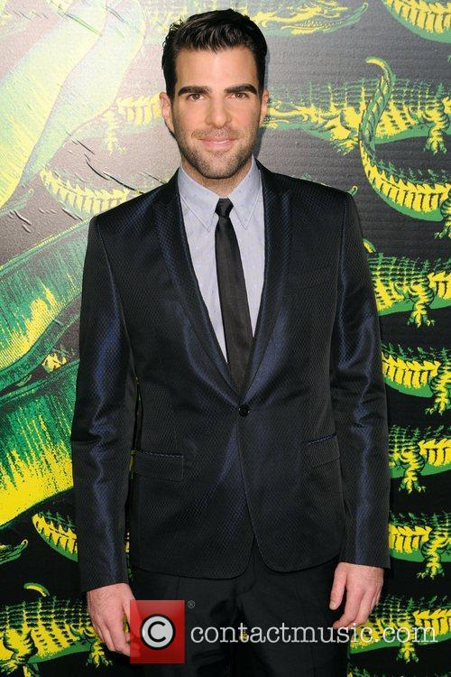 Zachary Quinto Versace for H&M Fashion Show and...