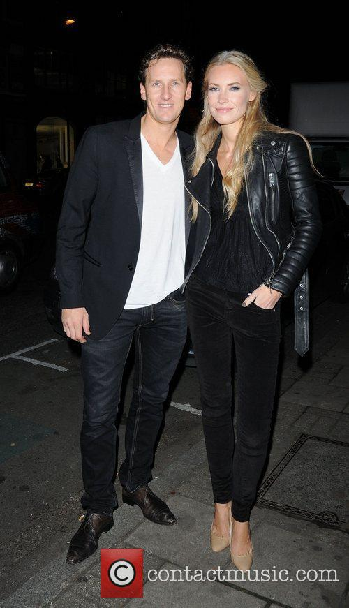 Brendan Cole and Zoe Cole attend the launch...