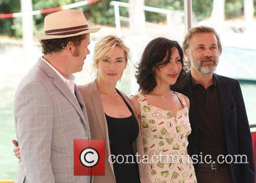 John C Reilly, Christoph Waltz and Kate Winslet 2
