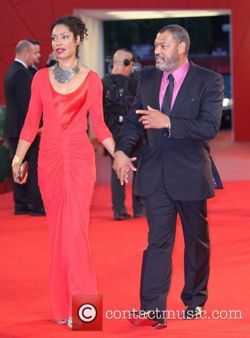 Gina Torres, Laurence Fishburne The 68th Venice Film...