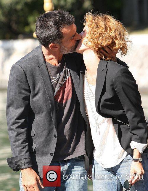 Thomas Trabacchi and Carlotta Natoli kissing The 68th...