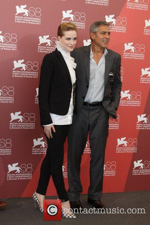 Evan Rachel Wood, George Clooney 68th Venice Film...