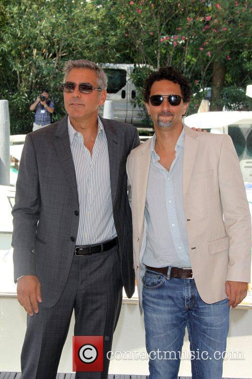 George Clooney and Grant Heslov 68th Venice Film...