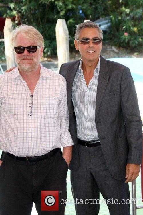 Philip Seymour Hoffman and George Clooney 68th Venice...