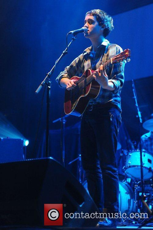 Conor J. O'Brien of Villagers performs on stage...