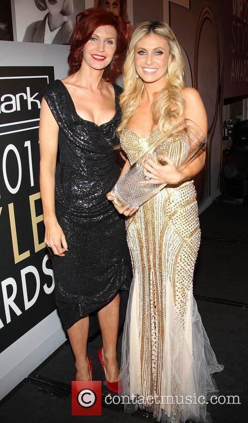 Yvonne Keating congratulates Claudine Keane VIP Style Awards...