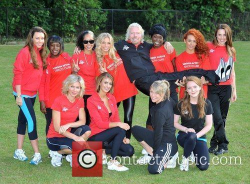 Sir Richard Branson, Chloe Madeley, Liz Locke, Melanie...