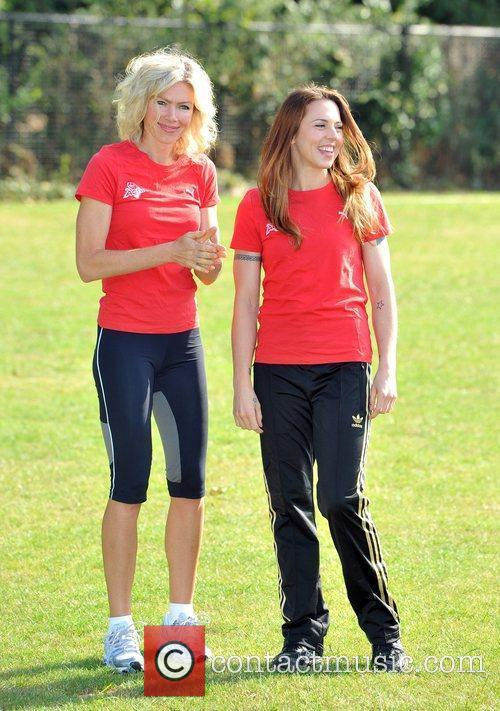 Melanie C, Nell McAndrew Virgin Active London Triathlon...