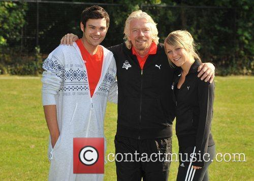 Sir Richard Branson, Chloe Madeley, Sam Attwater Virgin...