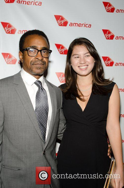 Tim Meadows and guest  Virgin Airlines Chicago...