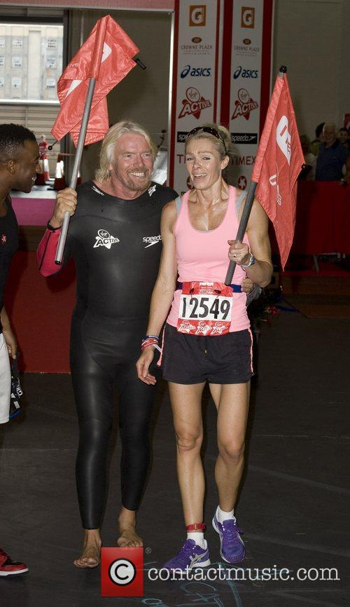 Richard Branson, Nell McAndrew Virgin Active London Triathlon...