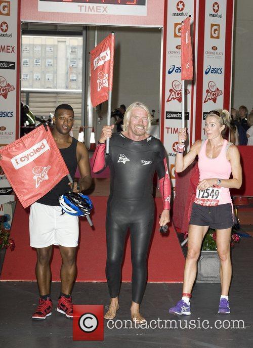 Oritse Williams, Richard Branson, Nell McAndrew Virgin Active...