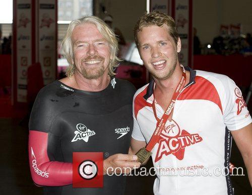 Richard Branson and Sam Branson Virgin Active London...