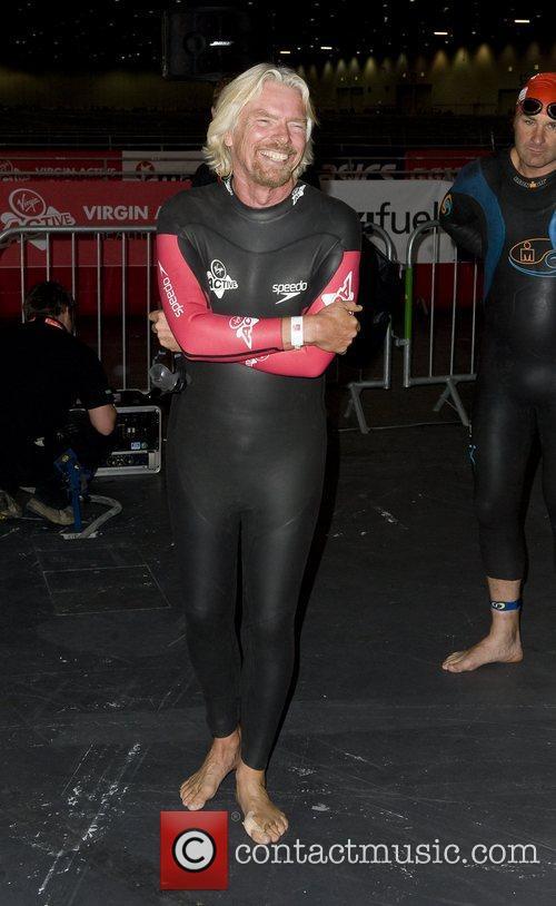 Richard Branson  Virgin Active London Triathlon at...