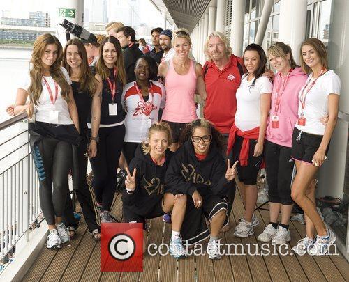 Virgin team Virgin Active London Triathlon at the...