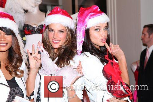 Chanel Iman, Adriana Lima, Alessandra Ambrosio and Victoria's Secret 7