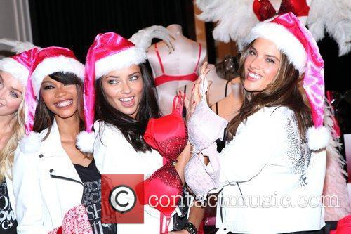 Chanel Iman, Adriana Lima, Alessandra Ambrosio and Victoria's Secret 7