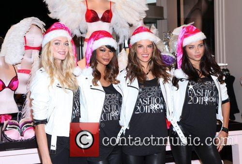 Chanel Iman, Adriana Lima, Alessandra Ambrosio and Victoria's Secret 10