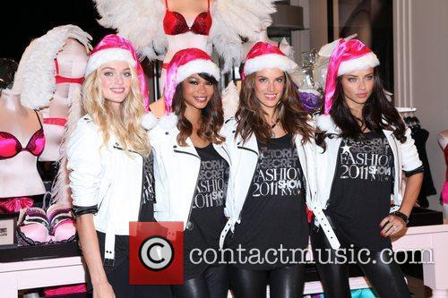 Chanel Iman, Adriana Lima, Alessandra Ambrosio and Victoria's Secret 1