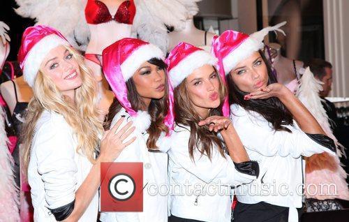 Chanel Iman, Adriana Lima, Alessandra Ambrosio and Victoria's Secret 10