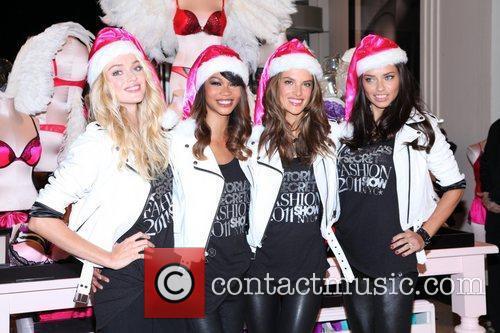 Chanel Iman, Adriana Lima, Alessandra Ambrosio and Victoria's Secret 11