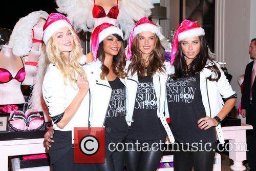 Chanel Iman, Adriana Lima, Alessandra Ambrosio and Victoria's Secret 14