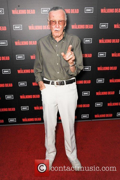 Stan Lee ,  at the premiere of...