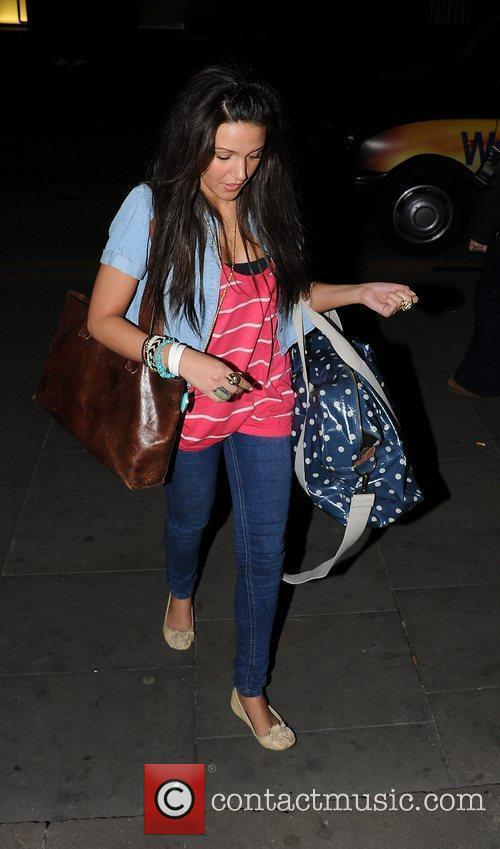 Michelle Keegan leaves The Wanted after show party...