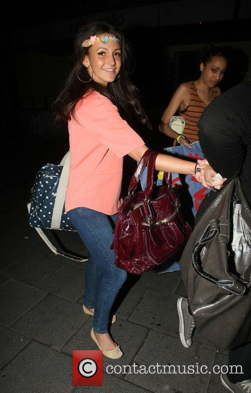 Michelle Keegan celebrities outside 'The Wanted' gig London,...
