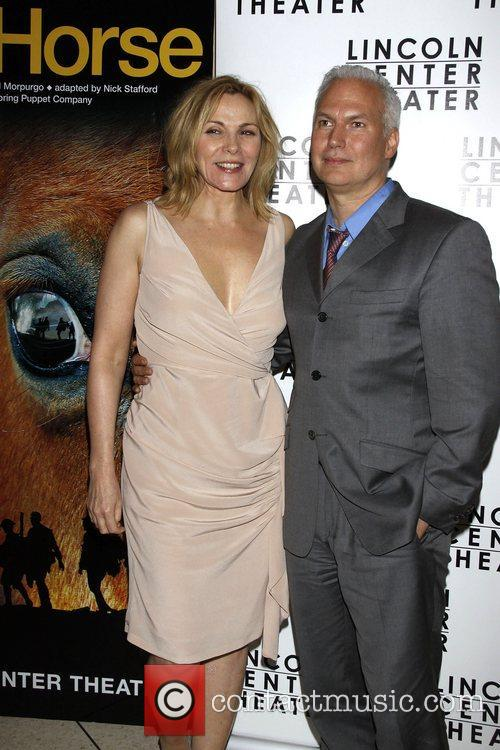Kim Cattrall and MoMA Curator Klaus Biesenbach Opening...
