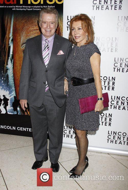 Regis Philbin and Joy Philbin Opening night after...