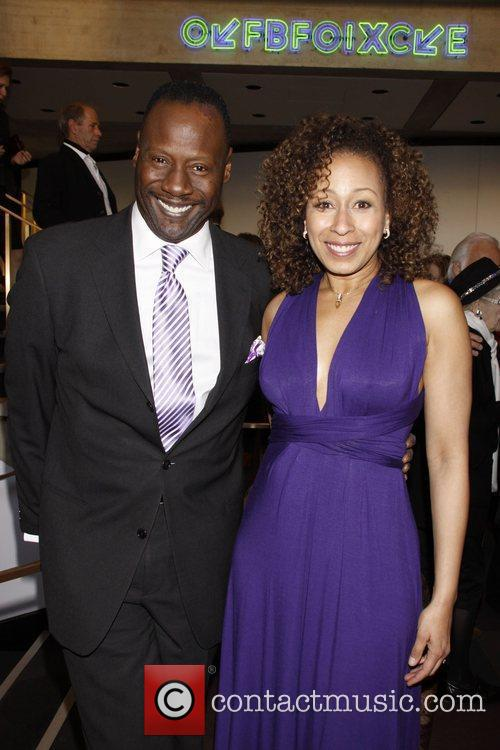 Gregory Generet and Tamara Tunie Opening night of...